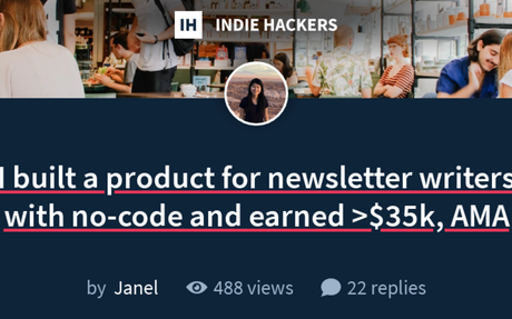I built a product for newsletter writers with no-code and earned >$35k, AMA