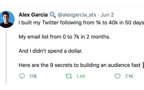 9 secrets to building an audience fast— Alex Garcia