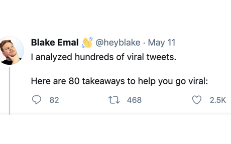 I analyzed hundreds of viral tweets.Here are 80 takeaways to help you go viral