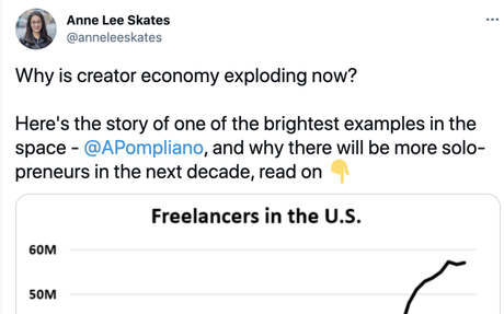 Why the creator economy exploding now - Story of @APompliano,