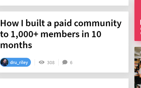 How I built a paid community to 1,000+ members in 10 months