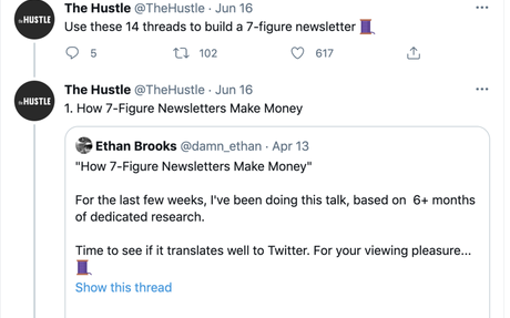 Use these 14 threads to build a 7-figure newsletter