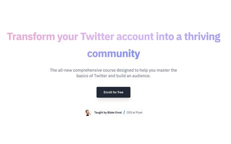 Free TwitterMBA course