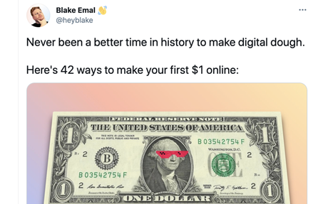 42 ways to make your first $1 online
