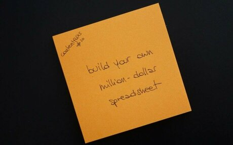 Build your own million-dollar spreadsheet
