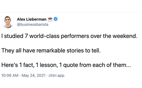 Lessons from 7 world-class performers