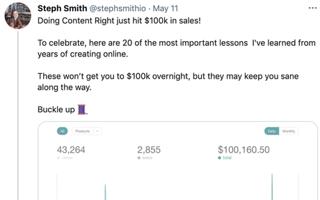 Getting to $100k in sales with Steph Smith