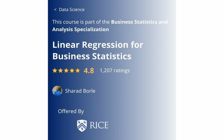 Linear Regression for Business Statistics