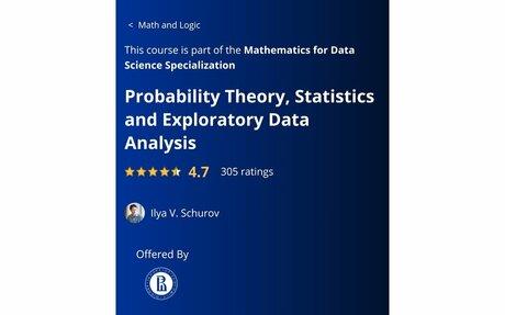 Probability Theory, Statistics and Exploratory Data Analysis