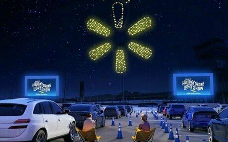 TECH // Walmart Illuminates Holidays With Drone Light Show
