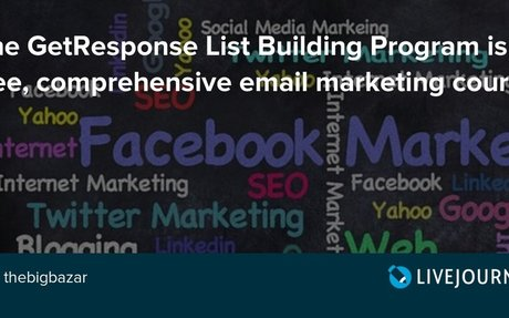 The GetResponse List Building Program is a free, comprehensive email marketing course
