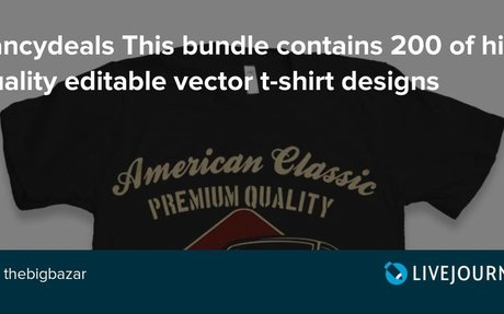 Fancydeals This bundle contains 200 of high quality editable vector t-shirt designs