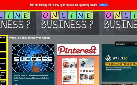 TheGreatBazar.Best Business OnLine For You - Walls.io Social Média Wall Online