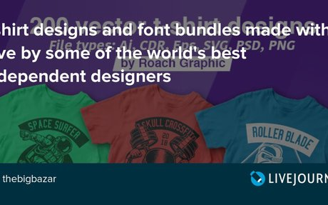 Tshirt designs and font bundles made with love by some of the world's best independent ...