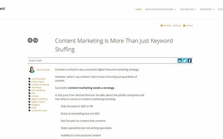 Content Marketing Is More Than Just Keyword Stuffing #Content