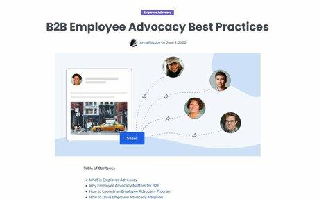 B2B Employee Advocacy Best Practices #EmployeeAdvocacy